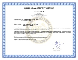Integra credit license nm